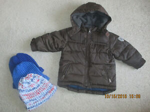 Baby Gap Winter Jacket 2T With 3 Winter Hats & Mittens ALL $15