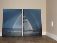 Photo Set of Double Rainbow (21x30, mounted)
