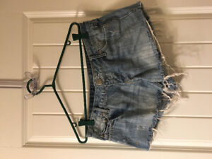 Denim shorts and skirt for sale