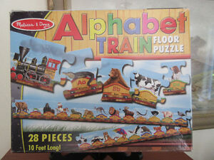 Melissa and Doug Alphabet Train Floor Puzzle - 10 feet long