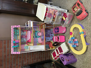 Barbie dolls, house, accessories and more