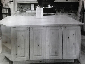 Beautiful Solid Wood Kitchen Island