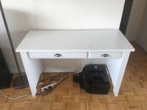 Moving out sale! Couch, desk, dining set, AC, bed, media stand