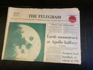 Toronto Telegram July 17, 1969 - Earth Moonstruck As Apollo