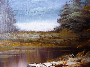 """Original Oil Painting by Phillip Cantrell """"Slow River Afternoon"""" Stratford Kitchener Area image 8"""