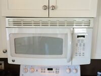 White GE Over-the-Range Microwave