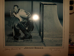 Johnny Bower Signed Lithograph  (503 of 1967)