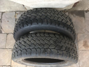 2 PNEUS D'HIVER / 2 WINTER TIRES 195/65/15 SNOWTRAKKER