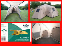 Large family tent, Royal Biarritz 9 berth New condition,Plus extras.