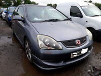 HONDA CIVIC TYPE R EP3 2.0 PETROL 2005 BREAKING FOR SPARES PLEASE CALL BEFORE YOU COME