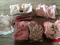 Baby girl vest bundle