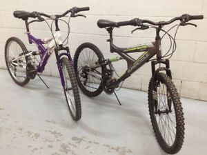 "Youth Teen Full Suspension Bikes - 24"" Wheels - 2 To Choose From"