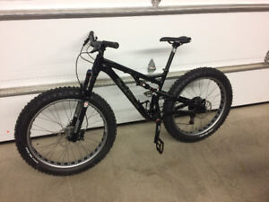 fat bike salsa bucksaw full suspension