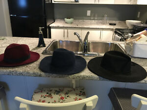 Ladies Hats (One is Free People) size Small/Medium