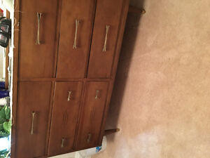 Dresser with matching head board