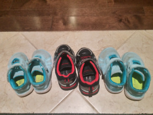 Three Toddler shoes size 6