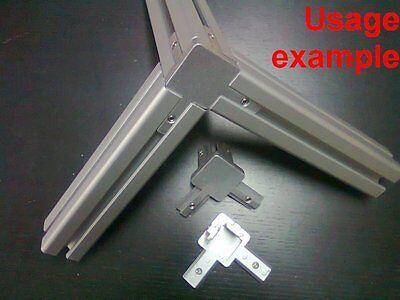 Aluminum T-slot Profile 3-way 90 Deg Inside Corner Bracket 40x40-8mm 4-set