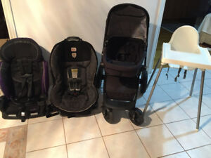 IKEA High Hair, Car Seat/Booster & Stroller in Good Condition