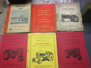 Tractor MANUALS-Massey Harris, IH and Others.
