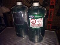 Small barbecue propane bottles still wrapped  up