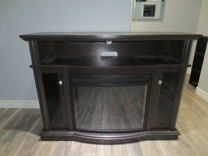 LIKE NEW Media TV Stand w/ Electric Fireplace