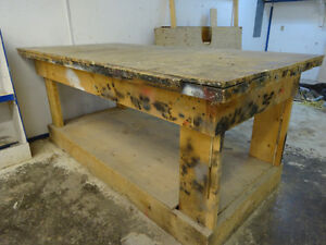 """Wood Workshop Bench Table 8' X 4' X 40"""" - $100.00"""