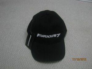 """""""Furious 7"""" Movie Promotional Cap, new, never worn, with tags"""