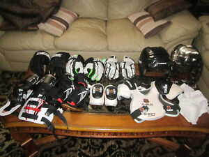 Assorted Youth Hockey and Lacrosse Equipment