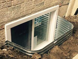we do basement window window and door installation patio door