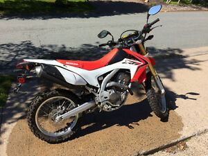 CRF250L street/trail. Perfect summer toy. Near mint, low kms.