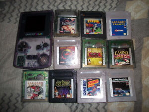 Nintendo Game Boy Color ( Transparent Purple ) with 10 Games