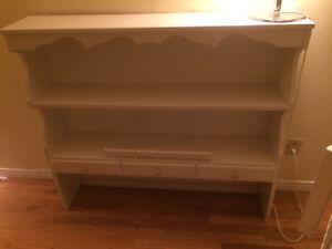 White hutch/bookcase wood