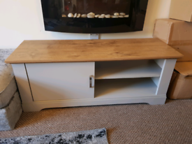 Large TV Unit - Media Unit - Wooden Grey Stand Table Side Table