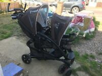 Graco double push chair with car seat and more