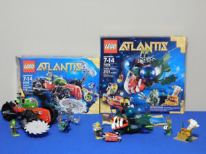 Lego Atlantis 7978 and 8059 100% Complete