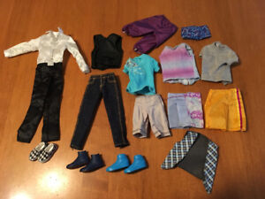 Barbie doll Ken clothes and shoes lot #4