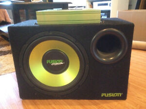 "FUSION CAR AMPLIFIER WITH 12"" SUBWOOFER"