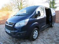 FORD TRANSIT CUSTOM 290 L2 H1 LIMITED LWB 125 BHP AIR CON CRUISE CONTROL 3 SEATS