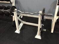 EZ curl bar with rack
