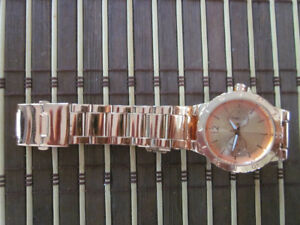 "BEAUTIFUL LARGE LADIES ""CHATELAINE"" COPPER WATCH"