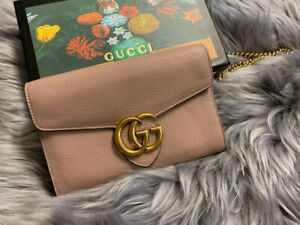 3e3d5292572 Gucci GG Marmont Cross Body Wallet on Chain