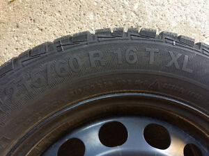 Gislaved winter tire and steel rim set (x4) Windsor Region Ontario image 4