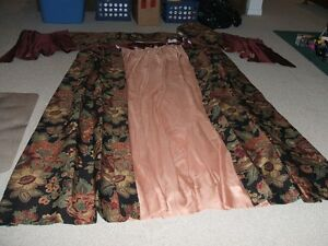 NEW**LINED**CUSTOM MADE DRAPES