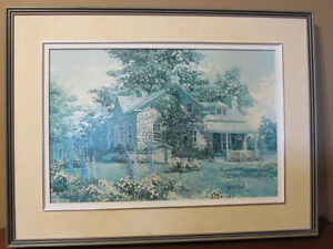 Large Keirstead Delphiniums print with frame