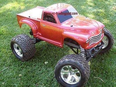 50s Chevy Custom Traxxas Stampede 1/10 RC Monster Truck Waterproof 30+MPH Stampede Rc Truck
