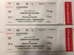 Oilers vs Arizona - Feb 14   Club Seats