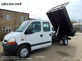 2008 08 RENAULT MASTER TIPPER, CREW CAB, DOUBLE CAB, DROPSIDE, PICK UP