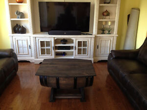 OAK WINE BARREL COFFEE TABLE, END TABLES, WINE RACK Peterborough Peterborough Area image 5