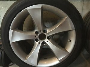 BMW X6 rims and front tires for sale.