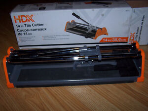 14-inch Tile Cutter with 7/8-inch Cutting Wheel